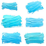 Collection of photos turquoise  light blue  strokes Royalty Free Stock Photo