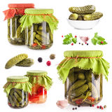 Collection of Pickles Royalty Free Stock Images