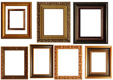 Collection of picture frames Royalty Free Stock Images