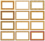 Collection of picture frames 4 Royalty Free Stock Photography