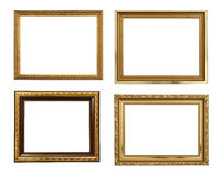 Collection picture gold frames Royalty Free Stock Photography