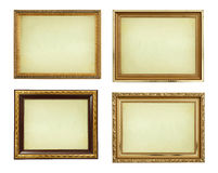 Collection picture gold frames Royalty Free Stock Photo