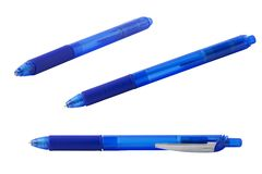Collection of pictures of blue ballpoint pen Stock Photos