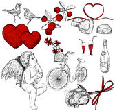 Collection of pictures for st. Valentines Day Royalty Free Stock Photography