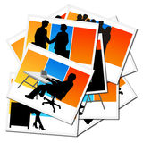 Collection of pictures with workers Royalty Free Stock Images