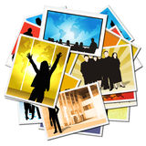 Collection of pictures with workers Stock Images