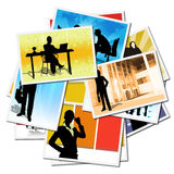Collection of pictures with workers Royalty Free Stock Photos