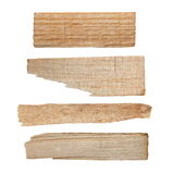 Collection pieces of broken planks isolated Stock Photos