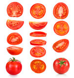 Collection of pieces of tomatoes Royalty Free Stock Image