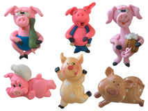 Collection of pigs Stock Image