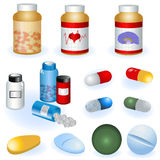 Collection of pills royalty free illustration