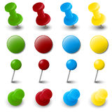 Collection of pin needle office supplies Royalty Free Stock Photography
