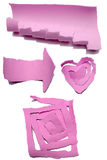 Collection Of Pink Paper Tears Stock Images