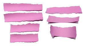 Collection Of Pink Paper Tears Royalty Free Stock Photography