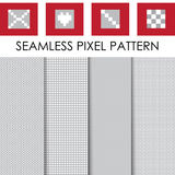 Collection of pixel seamless patterns. Vector Royalty Free Stock Photos