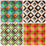 Collection plaid seamless patterns Royalty Free Stock Photo