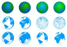 Collection of planets Royalty Free Stock Photography
