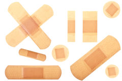 Collection of Plasters Royalty Free Stock Photo