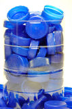 Collection of plastic caps Royalty Free Stock Images
