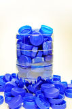 Collection of plastic caps Stock Image