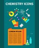 Collection plate d'icônes de chimie illustration de vecteur