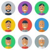 Collection plate d'icônes de personnes, Images libres de droits