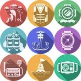 Collection plate de plongée d'icônes de couleur illustration stock