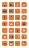 Collection plate moderne de vecteur d'icônes Image libre de droits