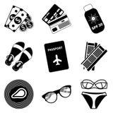 Collection plate moderne de vecteur d'icônes Photographie stock libre de droits