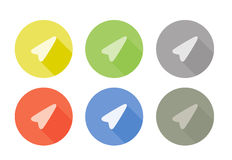 Collection of pointer arrow symbol rounded icon Stock Images