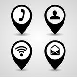 Collection pointer icon great for any use. Vector EPS10. Royalty Free Stock Images