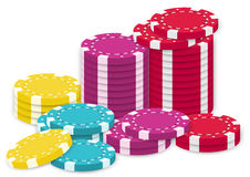 A collection of poker chips Stock Images