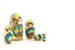 Collection Polish traditional Babushka dolls Royalty Free Stock Images