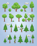 Collection of polygonal trees Royalty Free Stock Photos