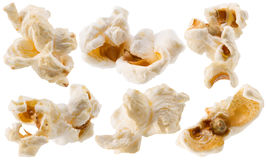 Collection of pop corn isolated on a white background Royalty Free Stock Image