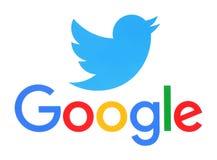 Collection of popular social media logos Royalty Free Stock Photos