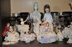 Collection of porcelain dolls Royalty Free Stock Photography