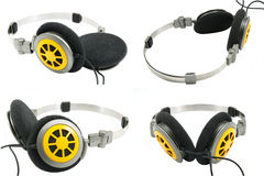 Collection of portable headphones Stock Image