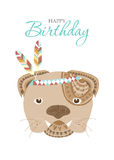 Collection of portrait dog with flower floral wreath,Design for birthday cards,Vector illustrations Stock Photo