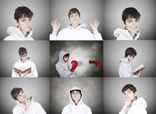 Collection of portraits Royalty Free Stock Image