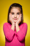 Collection of portraits of young girls Royalty Free Stock Photo