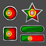 Collection of portugal flag icons Royalty Free Stock Image