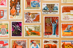 Collection of post stamps Royalty Free Stock Photography