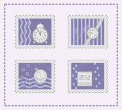 Collection of postage stamps Stock Photos