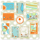 Collection of postal stamps - Nature Stock Photography