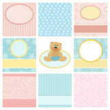 Collection of postcard backgrounds Royalty Free Stock Photos