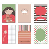 Collection of postcards for a princess Royalty Free Stock Image