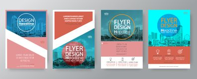 Collection of poster flyer brochure cover layout design template royalty free illustration