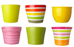 Collection of pots Stock Photo