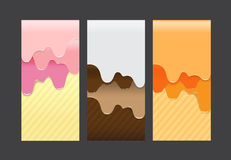 Collection of pouring sweet cream abstract background vector ill Royalty Free Stock Photography